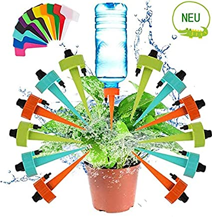 12 Stück Automatisch Bewässerung Set Einstellbar Bewässerungssystem für Blumen