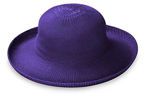 Wallaroo Hat Company Women's Victoria Sun Hat - Deep Lilac - Ultra-Lightweight, Packable, Modern Style, Designed in Australia.