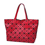 Brand Style Women Geometric Plaid Vertical Shoulder Bag Matt Surface Bag 7 Colors