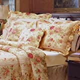 5pc Chic Shabby Romantic Rose Bedding Quilt Set Full/Queen