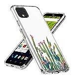 Google Pixel 4 Case,Topnow Clear Design Plastic Hard Back with TPU Bumper Protective Cover - Cactus Plexus