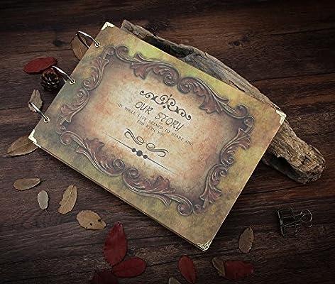 XIUJUAN Album de Fotos para Pegar con Caja Regalo, DIY Álbum Scrapbooking Paginas Negras, Regalos Originales Navidad Cumpleaños Aniversario Boda San ...