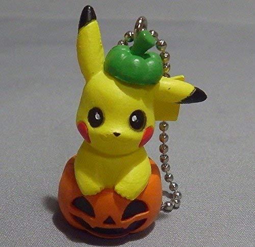 Nintendo Sun & Moon Halloween Pumpkin Figure Swing Keychain~Pikachu -