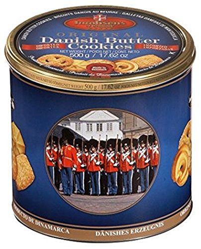 Superior Quality JUMBO size Tin BOX Jacobsens of Denmark Danish Butter Cookies (500 grams)