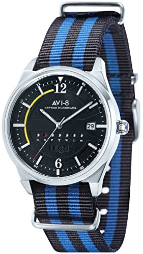 AVI-8 Mens Hawker Hurricane Watch - Blue/Black