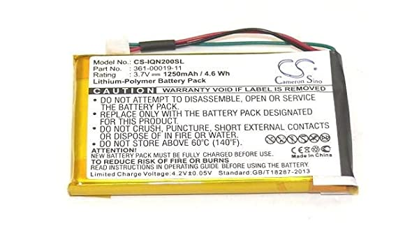 NEW GPS Battery Garmin Nuvi 200w 205t 205wt 250 252w 255t 255wt 1250mAh replace
