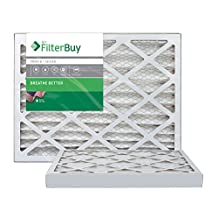 AFB MERV 8 Pleated AC Furnace Air Filter, Silver (2-Pack), (30x36x2) Inches