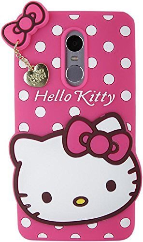 official photos 63369 d3166 Aloin® Redmi 5 Girl's Back Cover Hello Kitty Silicon with Pendant - Pink