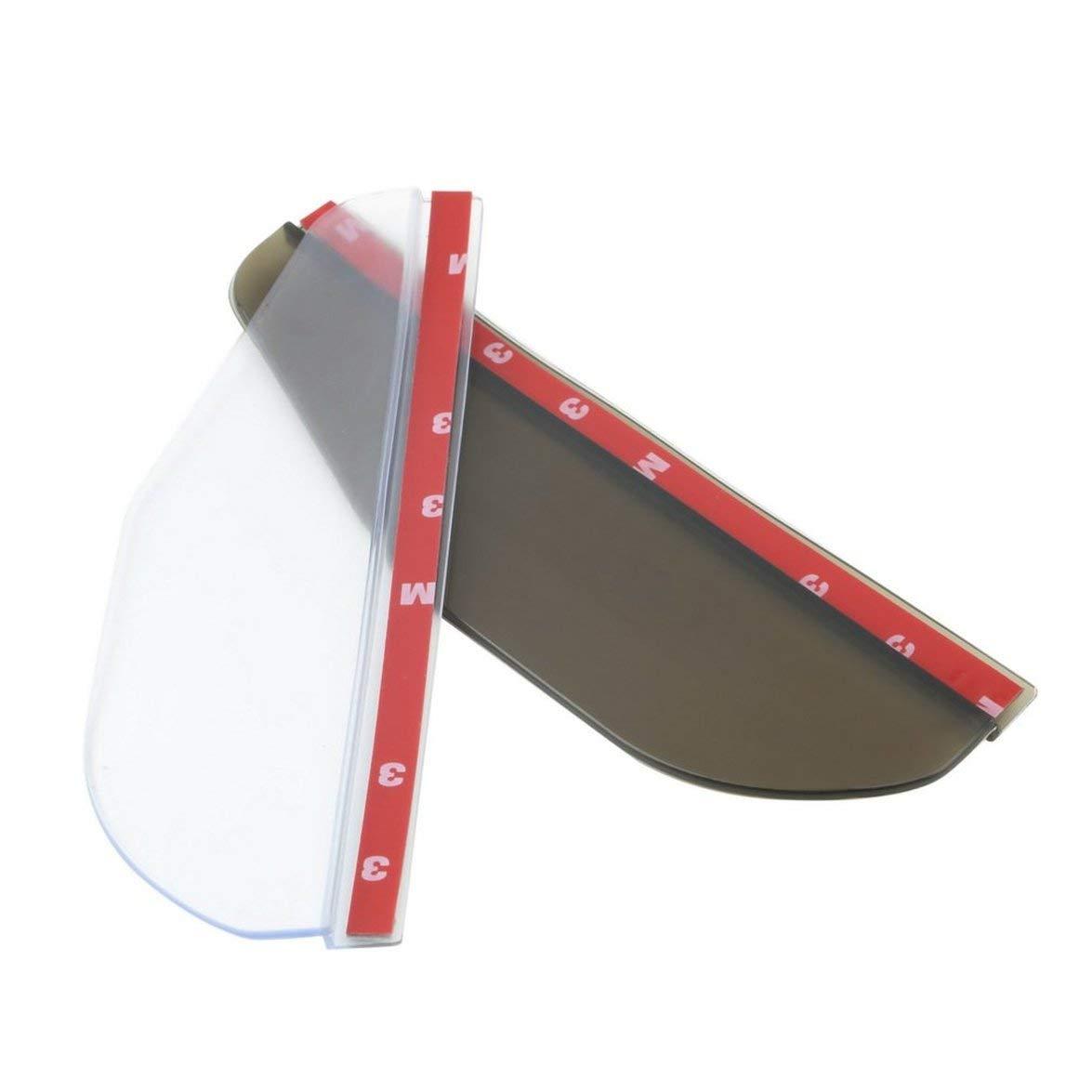 Kongqiabona 2Pcs//Set Car Rain Shield Flexible Rubber Rearview Mirror Rain Shade Water Guard Shower Blocker Cover Sun Visor Shade