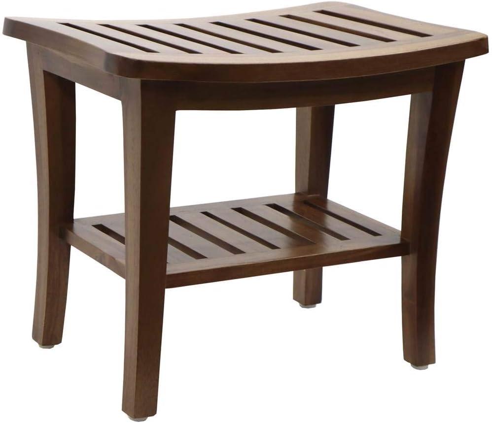 Redmon 5323 Teak Collection Bench, 20 x 13.5 x 17.5 Height: Home & Kitchen