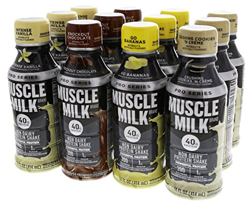 CytoSport Muscle Milk Pro Series 40 RTD Variety Pack 12-14 oz Bottles