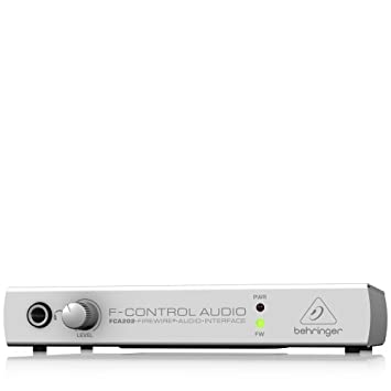 Behringer FCA202 F-Control Audio Ultra Low-latency 2 In/2 Out 24 Bit/96 kHz  FireWire Audio Interface