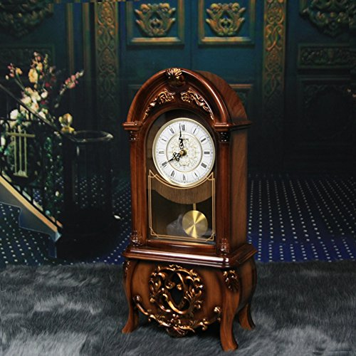 European-style retro clock/Clock/ living room table clock/Bedroom decoration/ the fashion pendulum clock/ hour chiming clock-A by FSHFK