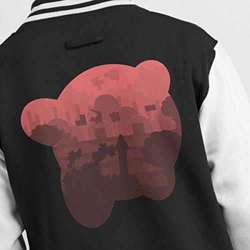 Kirby Silhouette Jacket Black Men's white Varsity rr6xaRP