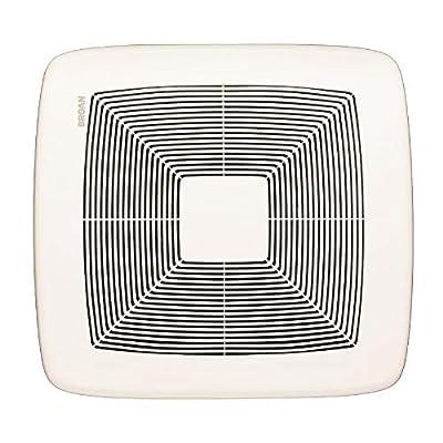 Broan QTXE080 Ultra Silent Bath Fan, 80 CFM, White Grille