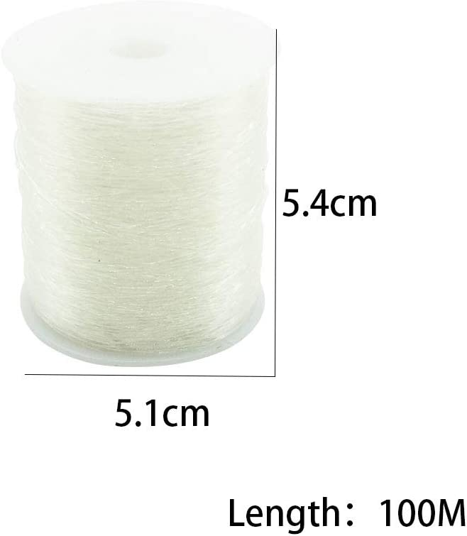 Bead Cord Bracelet Elastic String for Bracelet WFYUAN 0.8mm Crystal Elastic String Stretchy String for Jewelry Making 100m//328 feet Necklace Making