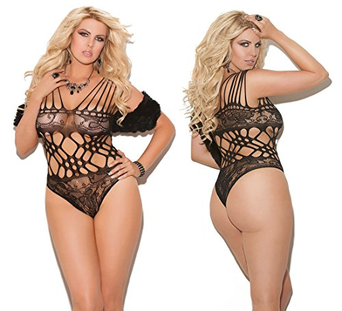 Plus Size Lingerie sexy black Dress XL-2X-3X ONE - Black Orgy White