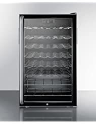 Summit SWC525LBISHADA Wine Chiller Beverage Refrigerator, Glass/Black