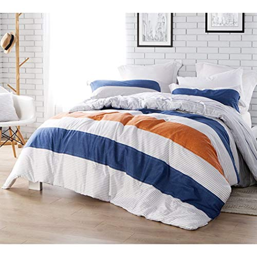 (DP 1pc Girls Navy Blue White Rugby Stripes Comforter Twin Xl, Horizontal Lines Grey Striped Kids Bedding, Casual Traditional Nautical Sports Themed Teen Cotton, Burnt Orange Cabana Pattern)