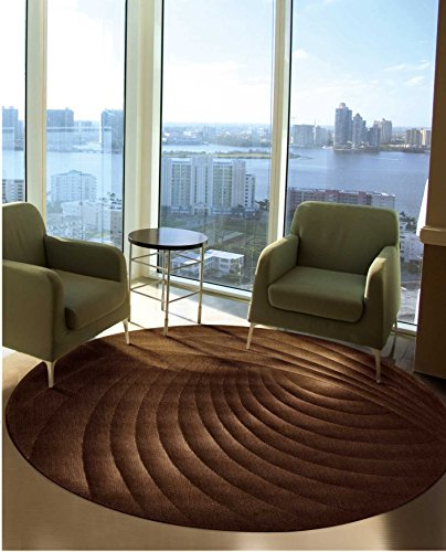 Nourison Somerset (ST75) Chocolate Round Area Rug, 5-Feet 6-Inches by 5-Feet 6-Inches (5'6