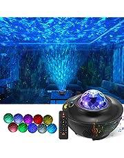Projektor światła nocnego LED, projektor 3 w 1, fala oceaniczna z pilotem, głośnik Bluetooth, gwiaździste światło, projektor muzyczny, na imprezę, wakacje, do sypialni, dla dzieci, dla dorosłych