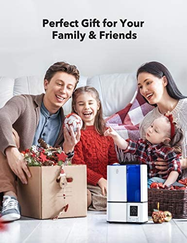 511SrnovzEL. AC - TaoTronics Humidifiers, 4L Cool Mist Ultrasonic Humidifier For Bedroom Home Large Room Baby Room, Quiet Operation, LED Display With Humidistat, Waterless Auto Shut-off (1.06 Gallon, US 110V)