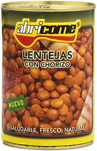 Abricome - Lentejas con chorizo - Saludable, fresco, natural ...