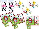 Farm House Animals Activity Placemats, Blowouts and Treat Bags Supply Kit