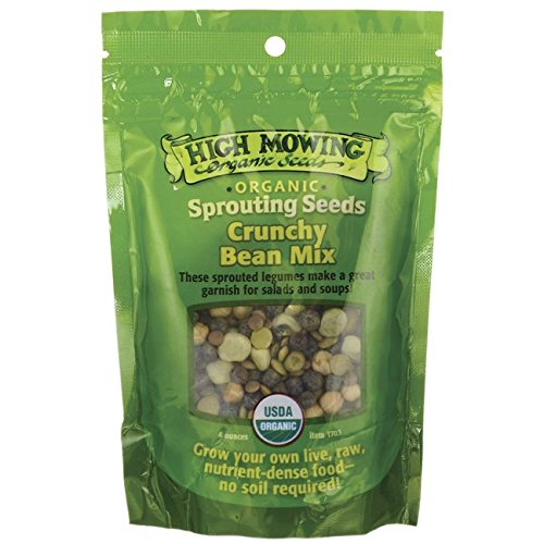High Mowing Organic Sprouting Seeds Crunchy Bean Mix -- 4 oz