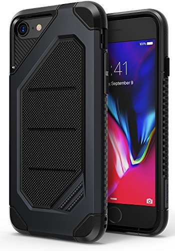 Ringke MAX Compatible with Apple iPhone 7, iPhone 8 Phone Case, Advanced Dual Layer Heavy Protection [Shock Absorption Technology] Stylish Armor Strength Resistant Protective Cover - Slate Metal