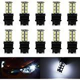3157 Led Bulb, DC 12V Parking Light Bulb Marker Light Brake Light Backup Turn Signal Bulb, 10PCS White of Pack