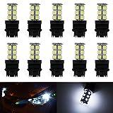 3157 light bulb - 3157 Led Bulb, DC 12V Parking Light Bulb Marker Light Brake Light Backup Turn Signal Bulb, 10PCS White of Pack