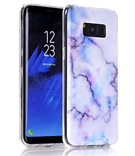 Galaxy S8 Case, White Marble Creative Design, BAISRKE Slim Flexible Soft Silicone Bumper Shockproof Gel TPU Rubber Glossy Skin Cover Case for Samsung galaxy S8 [Colorful]