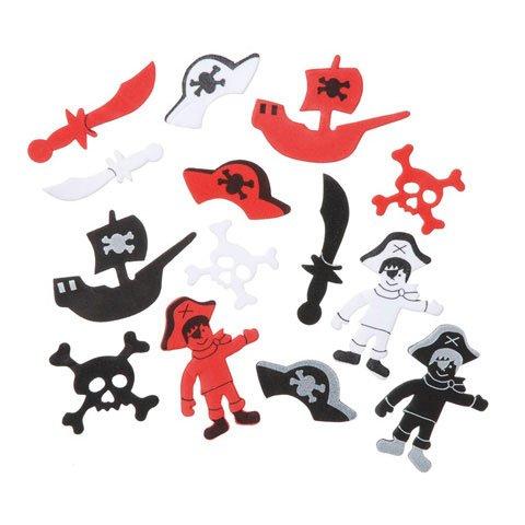 Darice 86 Pirate Peel Off Foam Stickers~Arts & Crafts~Scrap booking~School