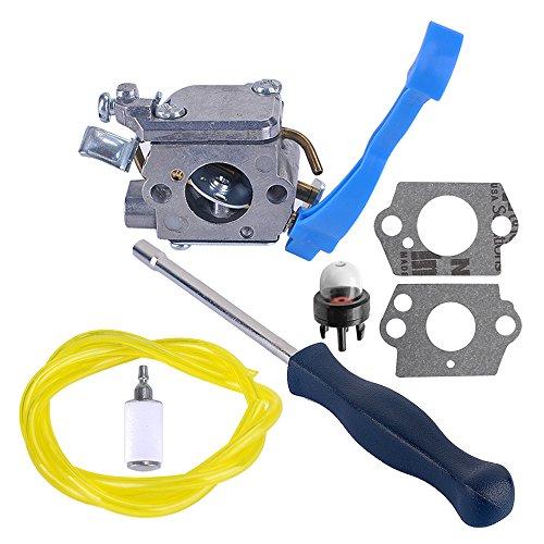 Savior Carburetor with Adjustment Tool Kit Screwdriver Fuel Line for ZAMA C1Q-W37 545081811 Husqvarna 125B 125BX 125BVX Blower by Savior