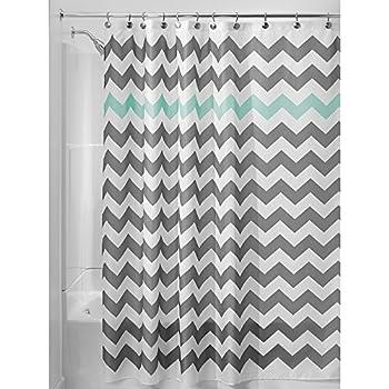 InterDesign Chevron Shower Curtain 72 X Inch Gray Aruba