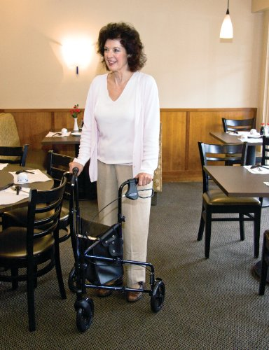 Carex 3 Wheel Walker For Seniors, Foldable, Rollator Walker With Three Wheels, Height Adjustable Handles by Carex Health Brands (Image #3)