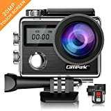 Campark X20 Action Camera 4K 20MP Waterproof Video Cam Wifi Underwater Camcorder with EIS, Dual Touch Screen, Remote Control