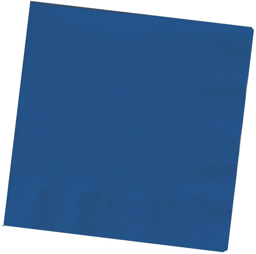 Creative Converting Touch of Color 200 Count 2-Ply Paper Beverage Napkins, Navy Blue , 5