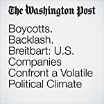 Boycotts. Backlash. Breitbart: U.S. Companies Confront a Volatile Political Climate | Jena McGregor