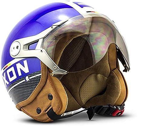 SOXON SP-325-PLUS Titanium · Helmet Jet-Helm Roller-Helm Mofa Retro Chopper Vespa-Helm Vintage Bobber Scooter-Helm Pilot Biker Cruiser Motorrad-Helm · ECE zertifiziert · inkl. Sonnenvisier · inkl. Stofftragetasche · Grau