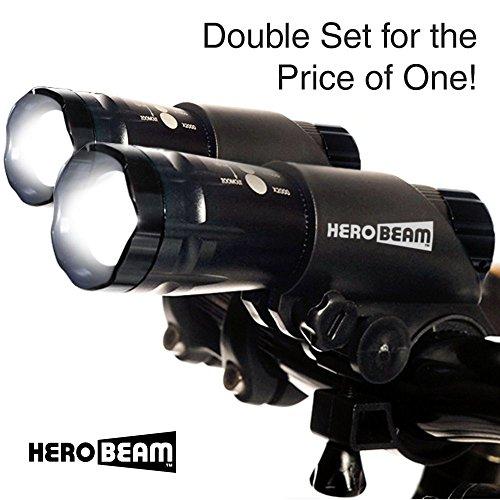 HeroBeam Bicycle Lights, Double Set