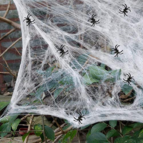 heekpek 130g Tela de Araña con 16 Arañas Decoraciones de Halloween ...