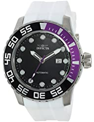 Invicta Mens Pro Diver Automatic Stainless Steel and Silicone Casual Watch, Color:White (Model: 23468)