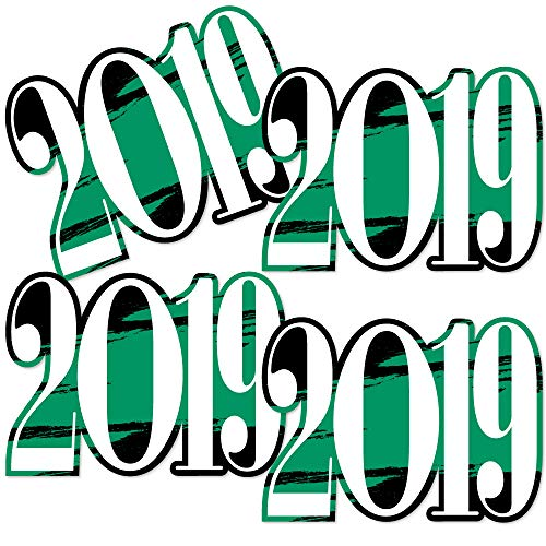 Green Grad 2019 - Best is Yet to Come - 2019 Decorations DIY Green Graduation Party Essentials - Set of 20