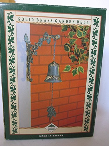 wall-mount-ivy-leaf-solid-brass-garden-bell-yard-verdigris-finish-9-x-7-x-35