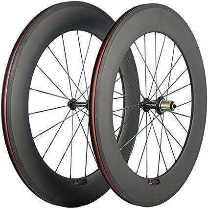 Free 1 Day Post Carbon Road Bike Wheelset Wheels 38//50//60//88mm 700C Clincher
