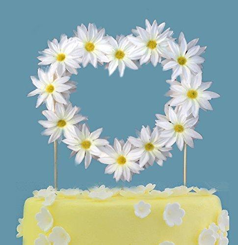 Amazon Com Daisy Heart Wedding Cake Topper Baby Shower Cake Topper