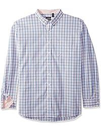 Men's Size Premium Essential Check Long Sleeve Shirt (Big...