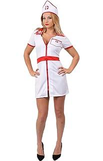 0ef3328b70d Fever Adult Women's No Nonsense Nurse Costume, Dress and Hat, Nurses ...